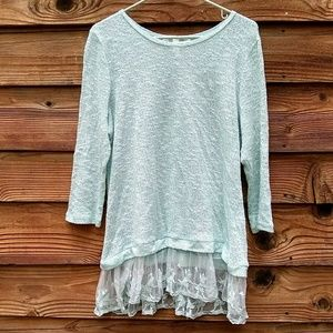 Mint Krazy Kat Lace Sweater Shirt L Large